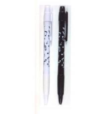 Bolígrafos Blancos y Negros con Notas Mu