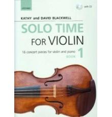 Solo Time for Violin Book 1   CD