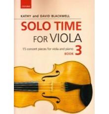 Solo Time for Viola Book 3