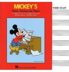 Mickey? s Music Manuscript Paper