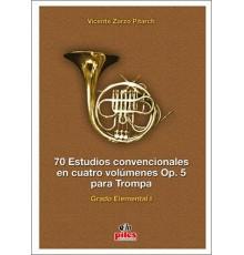 70 Estudios Convencionales Op. 5 Vol. I