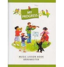 My Progress Music Lesson Book