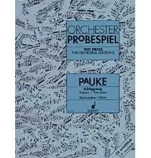 Orchester Probespiel. Pauke/ Timpani