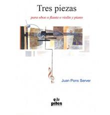 Tres Piezas para Oboe ó Flauta y Piano