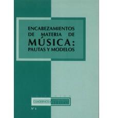 Encabezamiento de Materia de Música: Pau