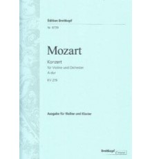 Konzert A-Dur Nr. 5 KV 219/ Red.Pno.