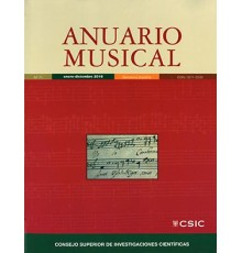 Anuario Musical 2016 Vol. 71