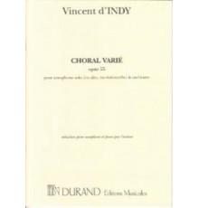 Choral Varié Op. 55/ Red. Pno.