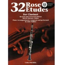 32 Rose Etudes   CD for Clarinet