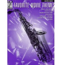 Favorite Movie Themes Alto Sax Book/