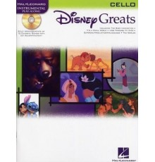 Disney Greats Cello/ Book Online Audio