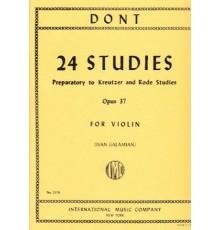 24 Studies Op. 37 Preparatory to Kreutze