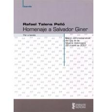Homenaje a Salvador Giner/ Score & Parts