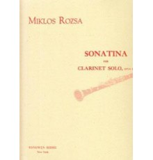 Sonatina Op. 27 for Clarinet Solo