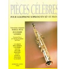 Pièces Célèbres Saxo Soprano y Piano