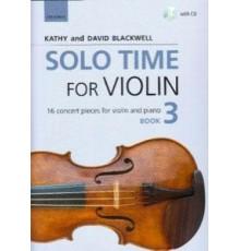 Solo Time for Violin Book 3   CD