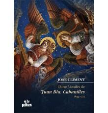 Obras Vocales de Juan Bta. Cabanilles