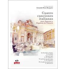 Cuatro Canciones Italianas/ Full Score