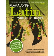 Latin With a Live Band for Flute   CD Pl