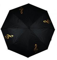 Paraguas Plegable Clave de Sol Dorado