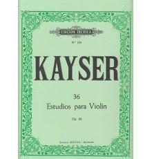 36 Estudios para Violín Op. 20