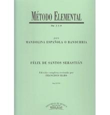 Método Elemental Op.115 Mandolina Españo