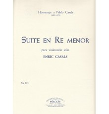 Suite en Re menor para Violoncelo