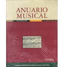 Anuario Musical 2015 Vol. 70