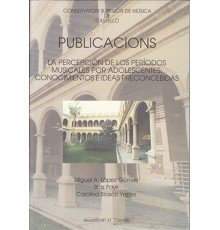 Publicacions Quadern Nº 31 La Percepció