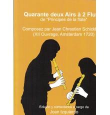 "Quarante Deux Airs à 2 Flutes de ""Princ"