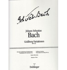 Goldberg-Variationen BWV 988/ Parts