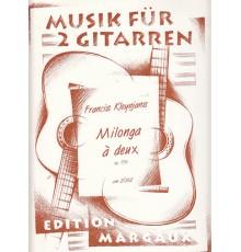 Milonga á Deux Op. 156 Musik für 2 Gitar