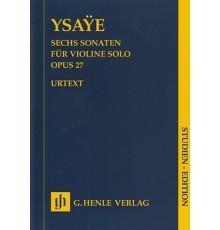 Sechs Sonaten Op. 27/ Study Score