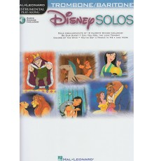 Disney Solos for Trombone/Baritone/ Book