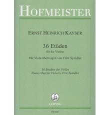 36 Etüden für Violine,Op.20 Transcrito p