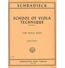 School of Viola Technique Vol. 1