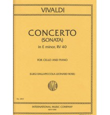"Concerto in E minor(Sonata)Nº 5 from""Six"
