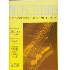 Pièces Célèbres 1º Saxo Alto y Piano