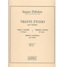 Trente Etudes pour Timbales Vol. 1