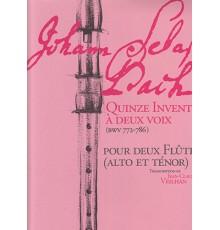 Quinze Inventions a Deux Voix (BWV 772-7