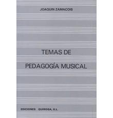 Temas de Pedagogía Musical