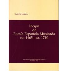 Incipit de Poesía Española Musicada ca.