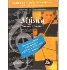 Temario Común Conservatorio. Parte B