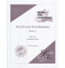 Five Etudes for Marimba Book 1