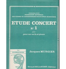 Etude Concert nº 1 French Horn Piano