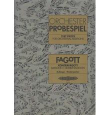 Orchester Probespiel. Fagot