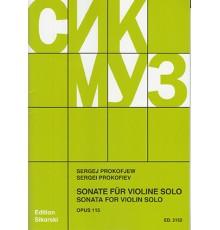 Sonata for Solo Violin Op. 115