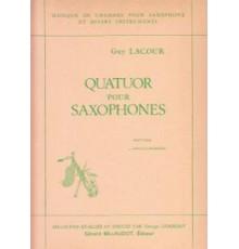 Quatuor pour Saxophones/ Partes