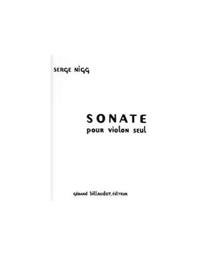 Sonate pour Violon Seul