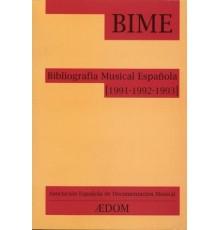 Bibliografía Musical Española (1991-1992